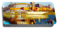 Reflections Of Wawel, Krakow Castle, Poland From The Vistula Riv Portable Battery Charger
