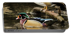 Reflections Of You And Me Wildlife Art By Kaylyn Franks Portable Battery Charger