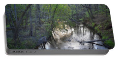 Portable Battery Charger featuring the photograph Reflections On The Congaree Creek by Skip Willits