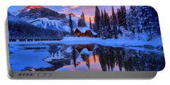 Reflections Over Emerald Lake Portable Battery Charger