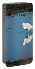 Reflections White Egret Portable Battery Charger