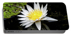 Reflective Lily Portable Battery Charger