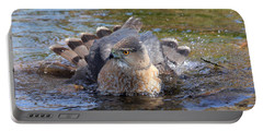 Portable Battery Charger featuring the photograph Refreshing Bath by Doris Potter