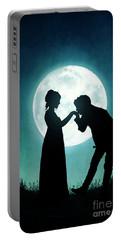 Regency Couple Silhouetted By The Full Moon Portable Battery Charger