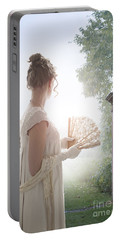 Regency Woman Looking Through A Gateway Portable Battery Charger