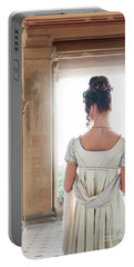 Regency Woman Under A Colonnade Portable Battery Charger