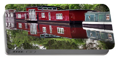 Portable Battery Charger featuring the photograph Regent Houseboats by Keith Armstrong