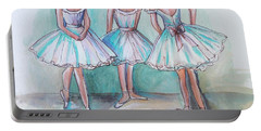 Portable Battery Charger featuring the painting Rehearsal by Elizabeth Robinette Tyndall