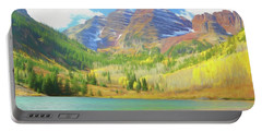Portable Battery Charger featuring the photograph The Maroon Bells Reimagined 1 by Eric Glaser