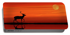 Reindeer By Moonlight Portable Battery Charger