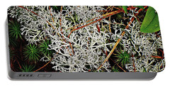 Reindeer Moss Portable Battery Charger by Joy Nichols