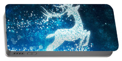 Reindeer Stars Portable Battery Charger