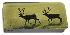 Reindeers On Swedish Fjeld Portable Battery Charger