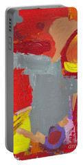 Portable Battery Charger featuring the painting Relax And Enhoy by Patricia Cleasby
