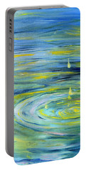 Portable Battery Charger featuring the painting Relaxation by Evelina Popilian