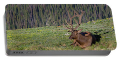 Relaxed Elk Portable Battery Charger by John Roberts