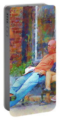 Relaxin Cowboy Portable Battery Charger