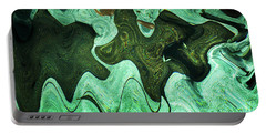 Relaxing Abstract Of Rays And Sharks Portable Battery Charger