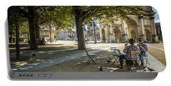 Relaxing Afternoon In Paris Portable Battery Charger