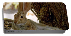 Relaxing Cottontail Portable Battery Charger
