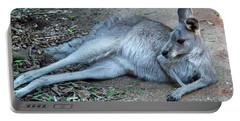 Portable Battery Charger featuring the photograph Relaxing Kangaroo by Miroslava Jurcik