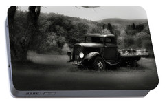 Portable Battery Charger featuring the photograph Relic Truck by Bill Wakeley