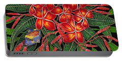 Tropical Fish Plumerias Portable Battery Charger by Debbie Chamberlin