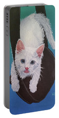 Portable Battery Charger featuring the painting Rembrandt Justa Swingin by Wendy Shoults
