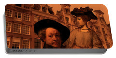 Rembrandt Study In Orange Portable Battery Charger