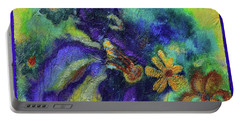 Remember The Flowers Portable Battery Charger by Donna Blackhall