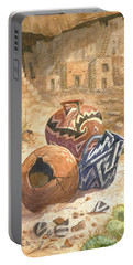 Portable Battery Charger featuring the painting Remnants Of The Ancient Ones by Marilyn Smith