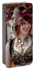 Renaissance Girl Portable Battery Charger