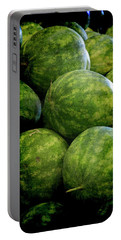Renaissance Green Watermelon Portable Battery Charger