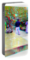 Portable Battery Charger featuring the photograph Renaissance Slide - Red-cyan 3d Glasses Required by Brian Wallace