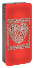 Renaissance Style Heart Portable Battery Charger
