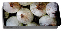 Renaissance White Onions Portable Battery Charger