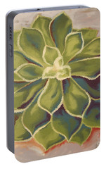 Portable Battery Charger featuring the painting Renewed by Erin Fickert-Rowland