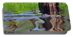 Portable Battery Charger featuring the photograph Reptile Ripples by Al Powell Photography USA