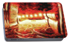 Portable Battery Charger featuring the digital art Reservations - Row C by Wendy J St Christopher