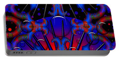 Portable Battery Charger featuring the digital art Resist by Robert Orinski
