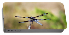 Rest Area, Dragonfly On A Branch Portable Battery Charger
