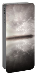 Portable Battery Charger featuring the photograph Rest In His Peace Bw by Rose-Maries Pictures