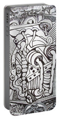 Portable Battery Charger featuring the drawing Rest In Peace Eternally - Marie Kalfala - Sierra Leone by Mudiama Kammoh