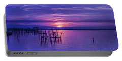 Rest Well World Purple Sunset Portable Battery Charger