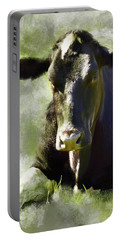 Resting Cow Portable Battery Charger