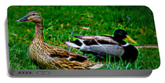 Portable Battery Charger featuring the photograph Resting Ducks by Mariola Bitner
