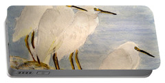 Resting Egrets Portable Battery Charger