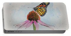 Resting Monarch Portable Battery Charger