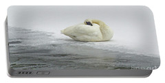 Resting Swan-signed-#1314 Portable Battery Charger