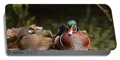 Resting Wood Ducks Portable Battery Charger